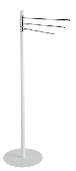 Toallero de pie 3 barras blanco cromo brillo - Toalleros de pie para bano ...